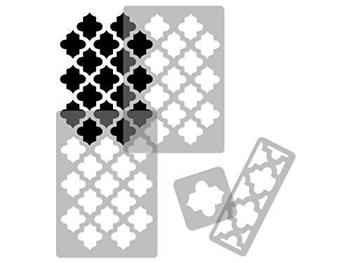 Marokkanische wiederverwendbare Wandschablone aus Kunststoff // 65x95cm // Tangier // Nahtlos Repetitive Allover Muster Vorlage