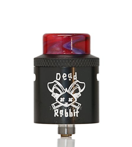 Authentisch Hellvape Heathen Dead Rabbit RDA 24 mm Durchmesser Elektronische Zigarette Atomizer Tank Kein Nikotin (Schwarz) -