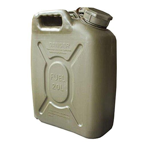 YOUANDMI Benzinkanister 20 L Ölfass Militärische Qualitätsprodukte Hochdichtes Polyethylen-Material, Explosionsgeschützt, Antistatisch (4.5KG)