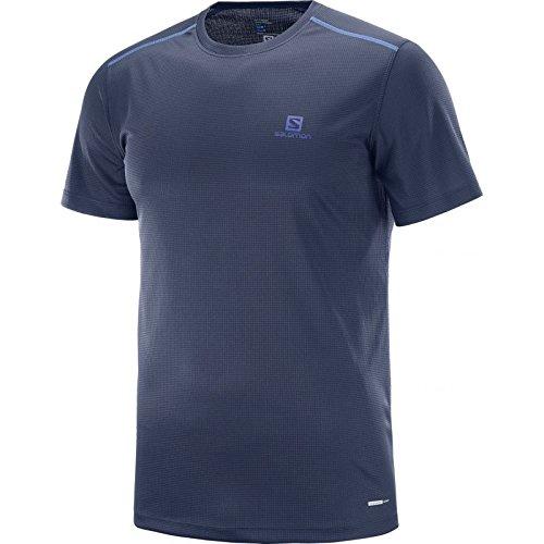 Salomon 40097200 - T-Shirt Uomo - Salomon Stroll SS Tee Man - Blu/Nero Night Sky