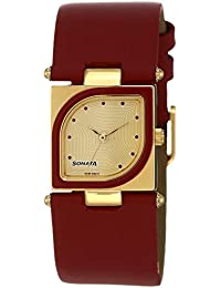 Sonata Yuva Analog Gold Dial Women's Watch -ND8919YL04AC