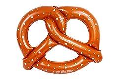 Idea Regalo - Tante Tina - Pretzel gonfiabile gigante - cavalcabile - marrone