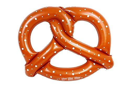 Tante tina - pretzel gonfiabile gigante - cavalcabile - marrone