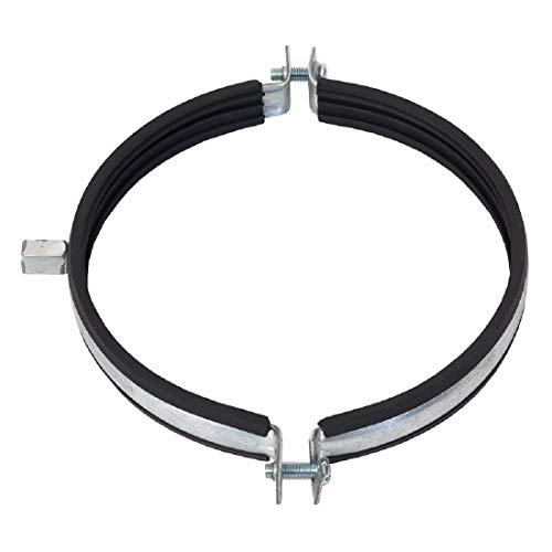 Abrazadera de tubo de 250 mm de diámetro, junta de goma, soporte para tubo, ventilador