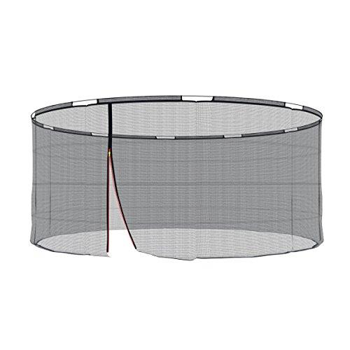 Ampel 24 Ersatz Sicherheitsnetz für Trampolin mit Sicherheitsring Ø 430 cm, Ersatznetz für 10 Stangen, Netz außenliegend, reißfest, UV-beständig