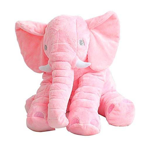 Elefant Stoffspielzeug - XXL 60 cm Elefant gefüllte Tier weiches Kissen Baby Kissen für Kinder Jungen und Mädchen