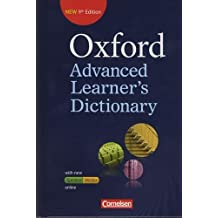 Oxford Advanced Learner's Dictionary - 9th Edition: B2-C2 - Wörterbuch (Festeinband) mit Online-Zugangscode: Inklusive Oxford Speaking Tutor und Oxford Writing Tutor