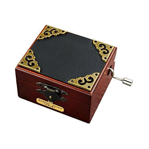 Retro-Spieluhr YouTang (TM), aus Holz in Miniaturgröße, 18 Noten, Handkurbel, Musikspielzeug, holz, Stil 2, Tune:Lilium from Elfen Lied
