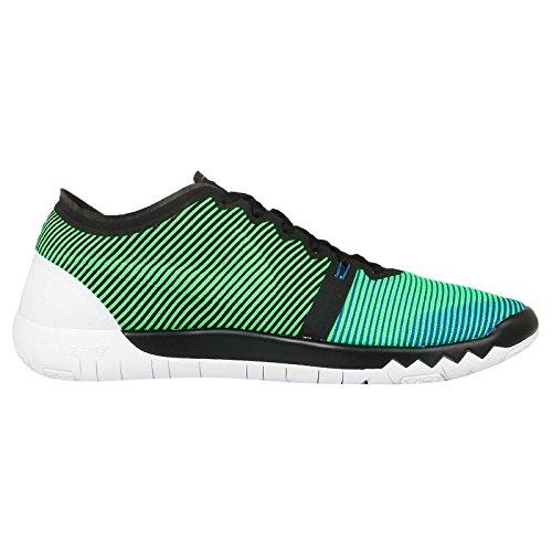 Nike Uomo Free Trainer 3.0 V4 scarpe sportive Nero/verde-blu-bianco (Black/Green Strike-Soar-White)