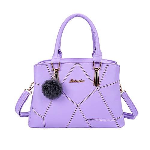 Frauen Handtasche Daypack Clutches,bestshope Damen Umhängetasche Lichee Schultertasche mit Haar Ball Messenger Mädchen Aktentasche Kosmetiktasche Freizeittasche Reisetasche Reißverschlusstasche