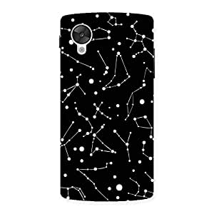Delighted Constellation Black Back Case Cover for Google Nexsus 5