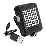 Cutogain USB Wiederaufladbare Fahrrad Rücklicht 64 LED Fahrrad Blinker Intelligente Sensor Bremse