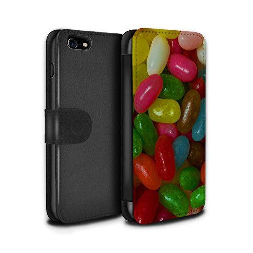 Stuff4 Coque/Etui/Housse Cuir PU Case/Cover pour Apple iPhone 7 / Roses Design / Bonbons Collection Jelly Beans