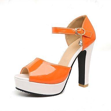 LvYuan Da donna-Sandali-Ufficio e lavoro Formale Serata e festa-Altro-Quadrato-Vernice-Giallo Verde Arancione Orange