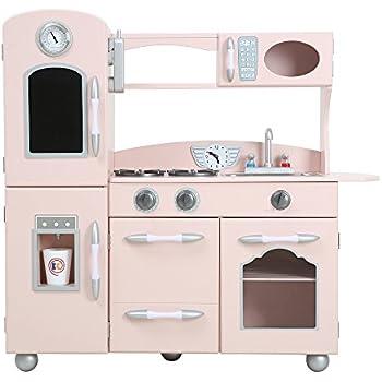 teamson jeu de cuisine enfant en bois dinette rose fille gar on td 11413p b b s. Black Bedroom Furniture Sets. Home Design Ideas