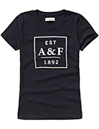 Abercrombie & Fitch Womens Logo Graphic T-Shirt In Navy