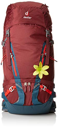 Deuter Damen Guide SL Alpin-Rucksack, Maron-Arctic, 72 x 28 x 20 cm, 40 + 8 L