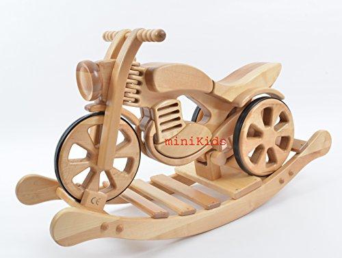 *Schaukelmotorrad Schaukelpferd Holzspielzeug Rocking Motorbike SPEED von ALANEL*