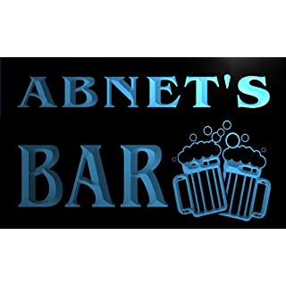 w136784-b ABNET Name Home Bar Pub Beer Mugs Cheers Neon Light Sign