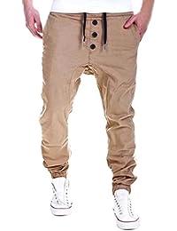 Hombre Pantalón Deportivo Jogger Sonnena Estilo Urbano Pantalones Casuales  Para Hombre Chándal con cd4a4160c2f2