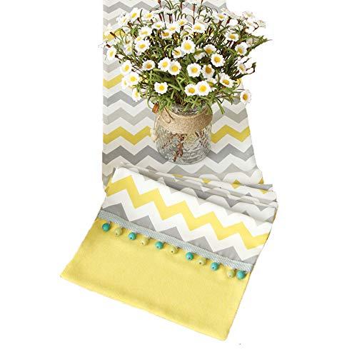 XF Tischflaggen Tischfahne gelbe Streifen Pop Stil Nordic Tischfahne moderne minimalistische Tischdecke TV-Schrank Couchtisch Mode Bett Flagge Home Stoff Dekoration Schreibtischzubehör & Ablage -