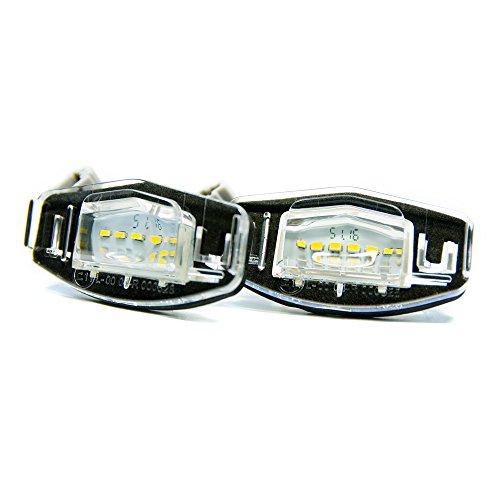 2 x LED Kennzeichenbeleuchtung Xenon Kennzeichen Leuchte Beleuchtung (Coupe Modell Civic Auto)