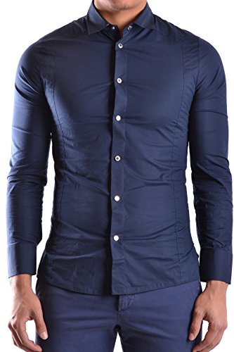 dirk-bikkembergs-homme-mcbi097013o-bleu-coton-chemise