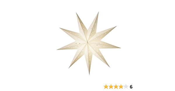earth friendly starlightz Leuchtstern Papierstern Stern ohne Verstromung