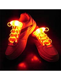 Suncentech Cordones de Zapatos Luminosos 2 Pares Ajustable LED Cordones de Zapatos, Novedad Fiestas Decoración