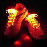 Leuchtend Schnürsenkel 2 Paare Einstellbar LED Schnürsenkel Leucht Schuhband, Party Neuheit Verkleiden Dekor (Rot)