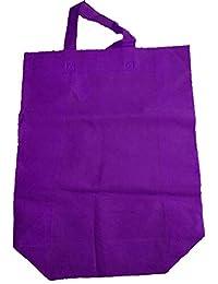"Krishna Non Woven Box Pack Bag (SIZE: 17"" X 15"" X 4""-Inches) Purple, 100 Pcs."