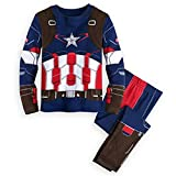 Jungen-Pyjama-Rächer-Superheld Iron Man Thor Hulk Captain America Spiderman Pyjamas (Blau, 7T(140))