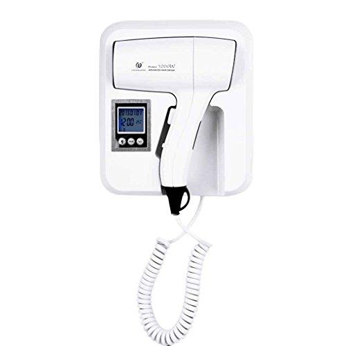 fish Hotel Home LCD de Montaje en Pared termostático de la Temperatura de Ajuste Secador de Pelo Secador de Pelo Eléctrico del Ventilador hairblower CHUANGDIAN