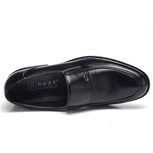 Leisure Black Kleidung Herren Business Formelle Schwarz Lederschuhe GRRONG Formelle Black Business Kleidung Leisure Lederschuhe Herren GRRONG Schwarz qHCfw6Rx4H