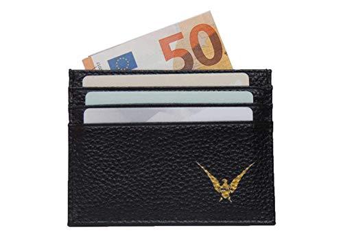 61402f8494 LINEARE Portafoglio uomo SOTTILE piccolo leggero, PORTA CARTE di credito,  tessere, banconote e