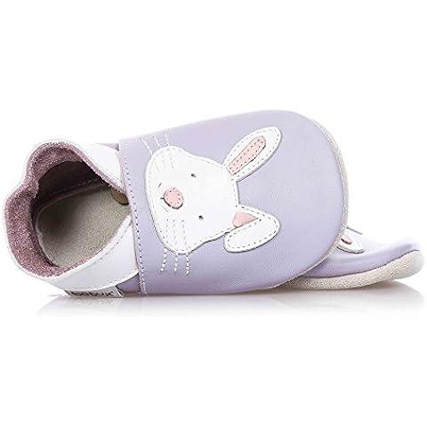 Bobux Rabbit Mauve Leather Soft Soles