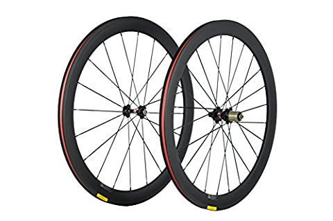 WINDBREAK BIKE 50mm Clincher Carbon Cycling Wheelset 23mm Width 700c Road Wheels