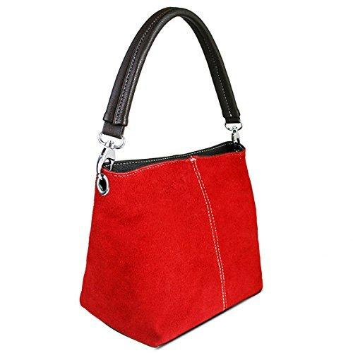 Miss Lulu - Hobo borse donna Rosso (rosso)