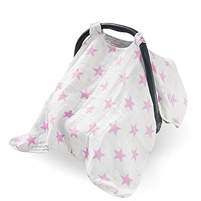 Jollein 544-001-65029 Verdeck für Babyschale Little star, rosa