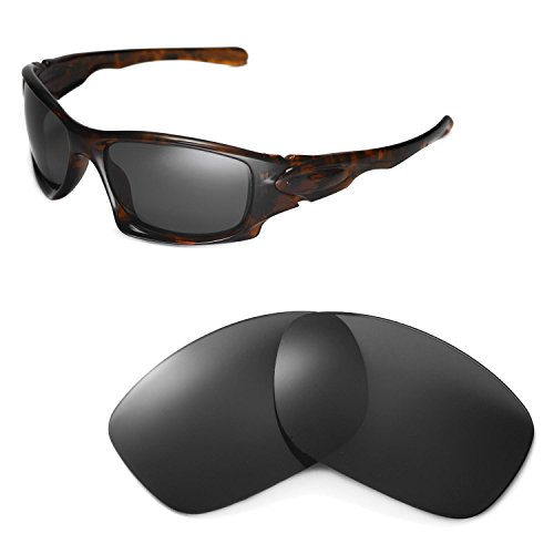 Walleva Ersatzgläser für Oakley Ten Sonnenbrille - Mehrfache Optionen (Schwarz - polarisiert)