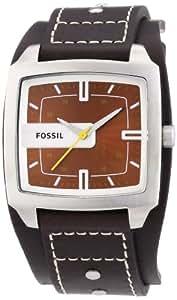 Fossil Herren-Armbanduhr Analog Leder braun Trend JR9990