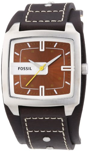 Fossil Herrenuhr Analog Leder braun Trend JR9990