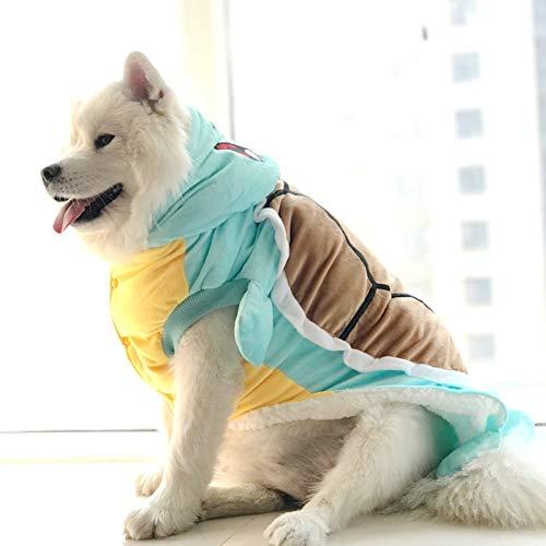FORMEG Hundekleidung Haustier Lustiges Halloween Haustier Katze Hund Schildkröte Kostüm Großer Hund Welpe Baumwolle Gepolsterte Jacke Mantel Golden Retriever Großer Hund Hoodie Kleidung (Schildkröte Hunde Kostüm)