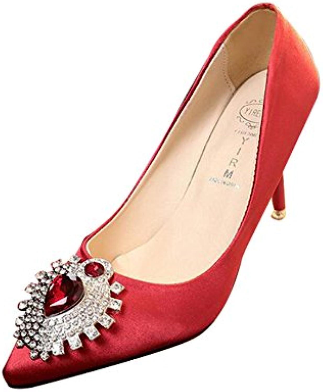 88726c4db23 Women s Rhinestone Pointed Toe High Heel Office Lady Pumps Pumps Pumps  Ladies Dance Dress Party Wedding Court Shoes 8cm B06Y13PH3L Parent bd8baf