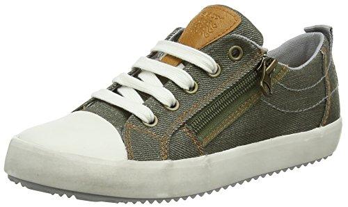 Geox Jungen J Alonisso  D Low-top Sneaker, Grün (Military/Grey), 37 EU