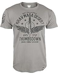Krav Maga T-shirt. Thumbs Down. Krav Maga Desert. Quiet Professionals. Israel Combat Division. Martial Arts. MMA T-shirt