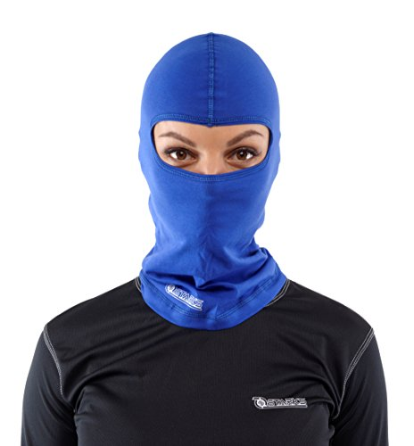 STARKS Sturmhaube Motorrad Sommer Balaclava Herren Fahrrad Sturmmaske | 90% High Quality Baumwolle Quick Dry, Protect From Dust Sun Wind | Ideal for Summer Extreme Sport Rad Motorcycle Bike Outdoor, Blau, One Size