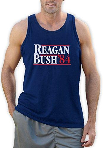 Green Turtle T-Shirts Ronald Reagan Bush '84 Blau XX-Large Tank Top (Reagan-bush-tank-top)
