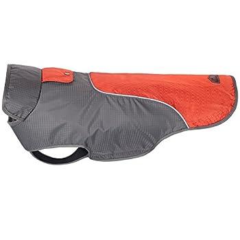 Treat Me Manteau Veste Automne Hiver pour Chien Moyen/Grand Imperméable avec Bande Réfléchissante Rouge M