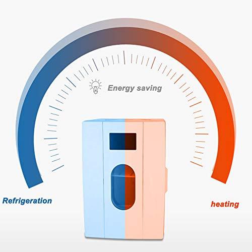 41hhwT uwyL - JCDZSW Mini refrigerador 10L Caja de calefacción y refrigeración electrónica de Doble propósito para automóvil Familiar, refrigerador para la Piel, Alimentos, medicamentos, hogar y Viajes